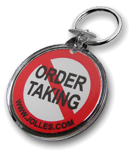 No Order Taking Keychain